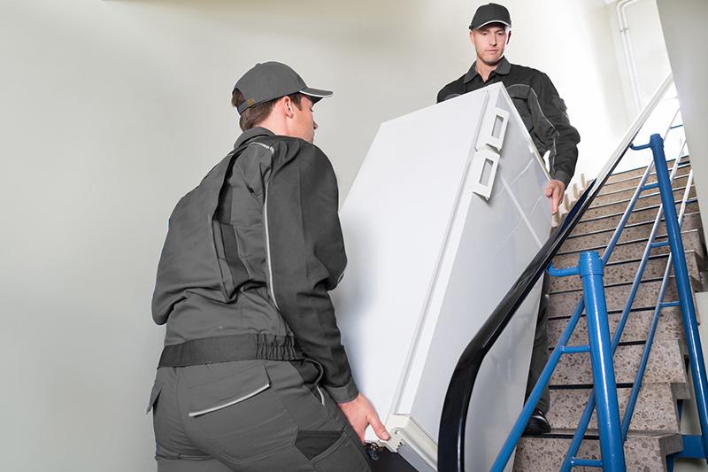 Men carrying fridge