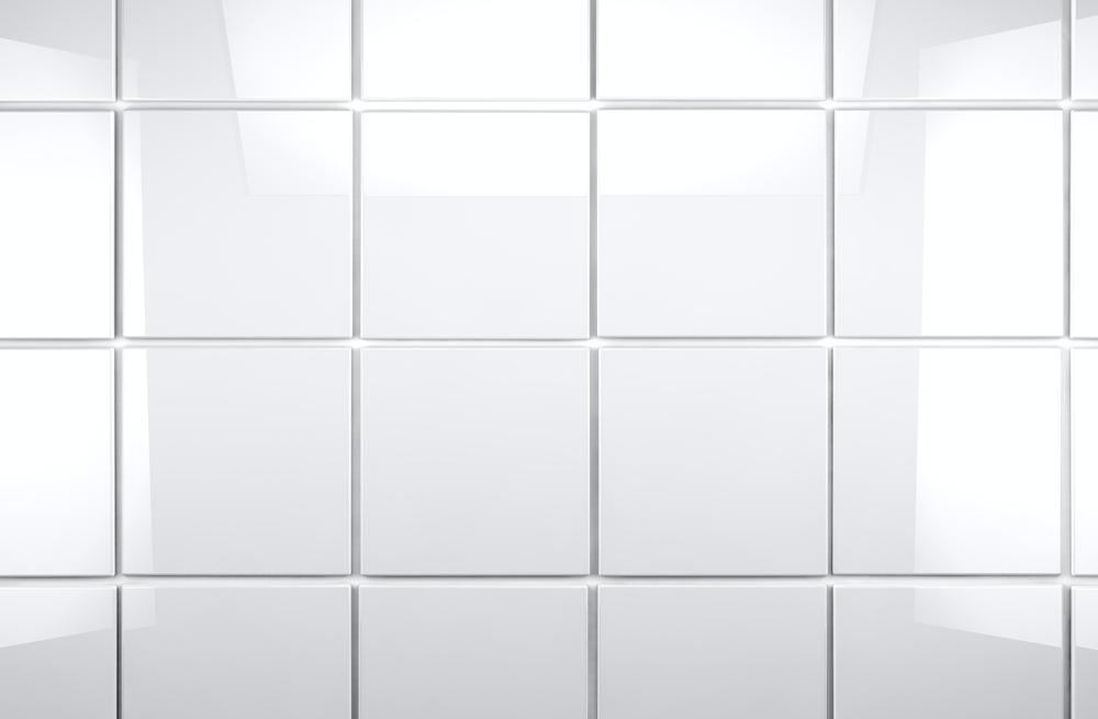 Tile wall in the bathroom