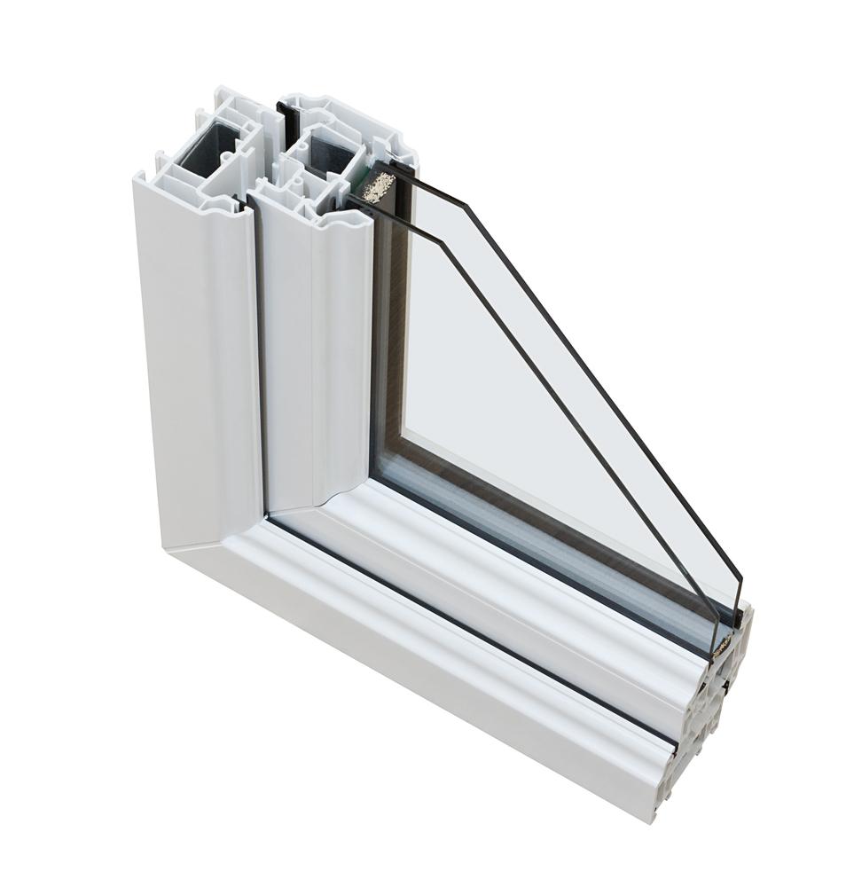 UPVC double glazing with cross windows