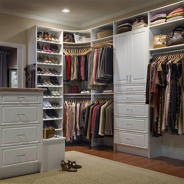 Closet with rug