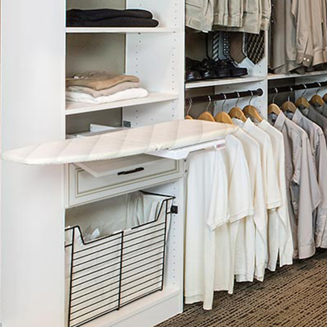 Fold out iron in closet