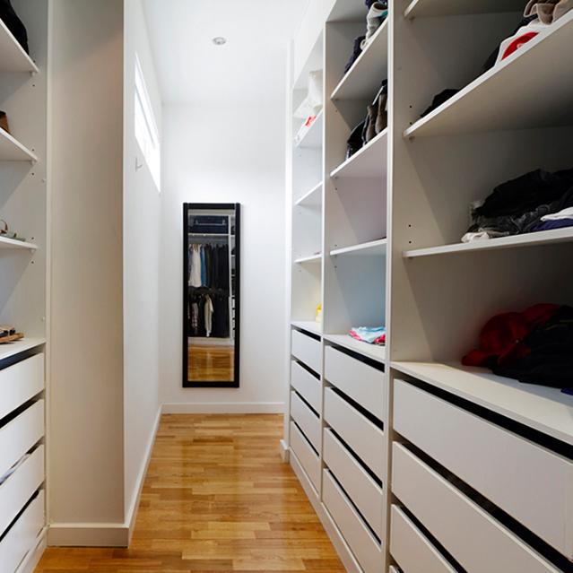 Mirror in closet