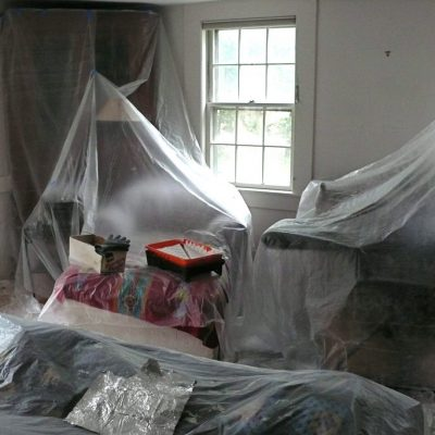 paint prep, prepping a wall, preparing for wall paint, paint room, paint house